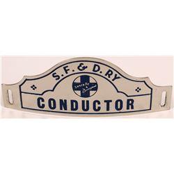 Santa Fe & Disney Railway Conductor Hat Badge  (126644)