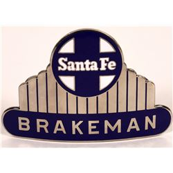 Santa Fe Railroad Brakeman Hat Badge  (126638)