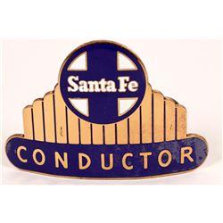 Santa Fe Railroad Conductor Hat Badge  (126639)