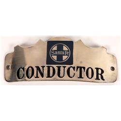 Santa Fe Railroad Scalloped Conductor Hat Badge  (126641)