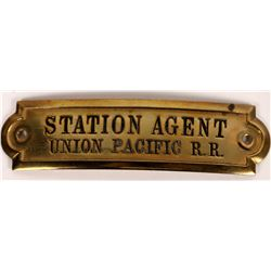Union Pacific RR Station Agent Hat Badge  (126642)