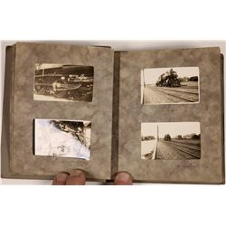 Vintage Photo Album with Northern Pacific Trains, c 1920s  (126949)
