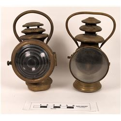 Pair of Brass Antique Lanterns  (125993)