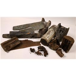 Ancient Cypriot Mine Timbers with Copper  (126920)