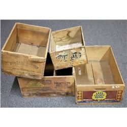 Four Wooden Crate Boxes, Two Mining Related  (125988)