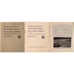 """Geology of the Cerro Gordo Mining District, Inyo County, California""  (123682)"