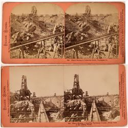 Houseworth Stereoviews of Hydraulic Mining In Columbia, Tuolumne, California  (123693)