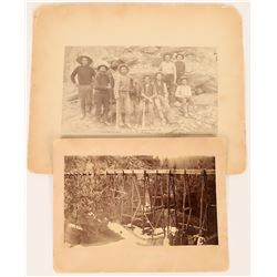 Gold Run J. J. Reilly Stereoview – Views of American Scenery Series - Hydraulic Mining (123753)