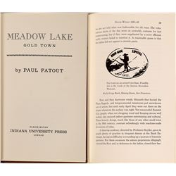 """Meadow Lake Gold Town"" by Fatout, 1969, Hardbound, RARE  (126848)"