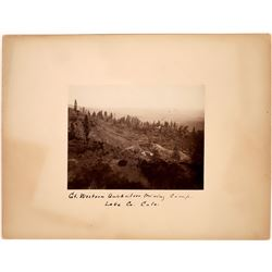 "Gt. Western Quicksilver Mining Camp Photograph, Lake Co. Cala."" Rare (123625)"