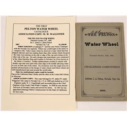 """Pelton Water Wheel Booklet"", Nevada County, 1887 - Extra Rare  (123749)"