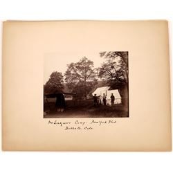 "Photograph of ""Mr. Lindgren's Camp, New York Flat, Butte Co., Cala.""  (123624)"