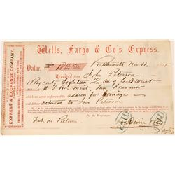 Rattlesnake Receipt for 43 Oz. Gold Dust to Baldwin