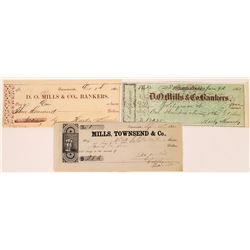 Mills, Townsend 1852 Gold Rush Check - Number 1 plus two others  (123708)