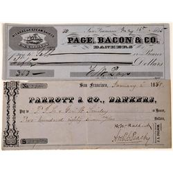 San Francisco Checks: Parrott & Co., and Page, Bacon