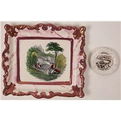 Gold Rush Commemorative Ceramic Transferware Plates - Rare - Lot of 2  (122322)
