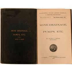 California State Mining  Bureau Bulletin No. 9 - 1896 Mine Drainage, Pumps, Etc.  (116278)