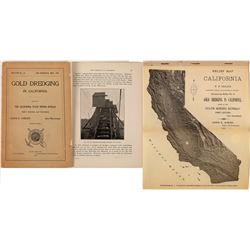 Gold Dredging in California, 1905, Extra Rare!  (126847)
