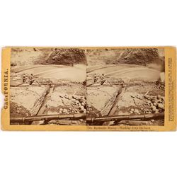 Lawrence & Houseworth Stereoview - Washing Down the Banks  (123702)
