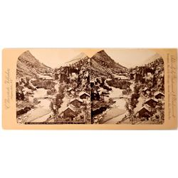 Brownsville Mining Camp Stereoview - Very Early  (123607)