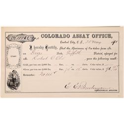 Colorado Assay Office, Central City Final Assay Report (123618)