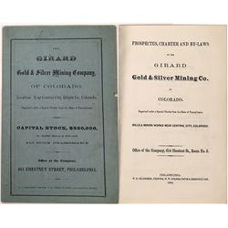 Girard Gold and Silver Mining Co. Prospectus, Central City, Colorado  (123578)