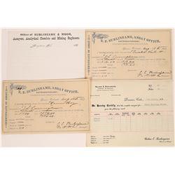 E. E. Burlingame Assay Receipts, Denver Colorado  (123572)