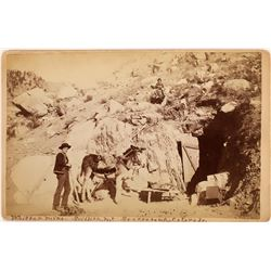 """""""Whittey Mine, Griffith Mt., Georgetown, Colorado"""" Cabinet Card (123623)"""