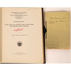 Gilpin County Books on Economic Geology and Central City Opera House (lot of 2)  (126779)
