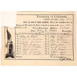 Claims Report for the Eldorado, 1865  (123573)