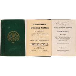 Rocky Mountain Directory and Colorado Gazetteer, 1871  (126770)