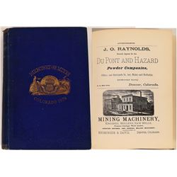 Directory of Mines, Colorado, 1879 - A Must Have for any Collector of Mining Artifacts!  (126768)