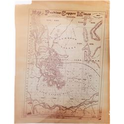 Peavine Copper Mines Map, GT Brown Litho, 1867  (126780)