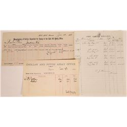 Three Different Comstock Assay Documents  (107998)