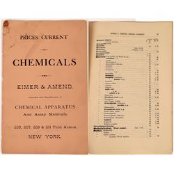 Eimer & Amend Chemicals, Chemical Apparatus and Assay Materials Booklet  (126731)