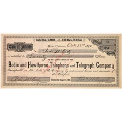 Bodie and Hawthorne Telephone and Telegraph Company Stock  (123552)