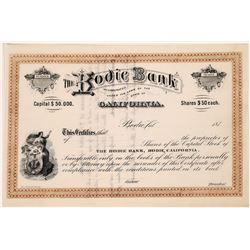 Bodie Bank Stock Certificate  (123551)