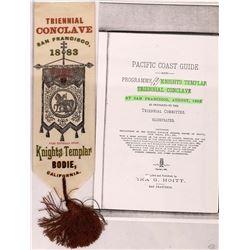 Triennial Conclave, Knights Templar, Bodie Ribbon  (123548)