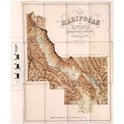 Map of Las Mariposa Estate: Colored Lithograph of Land Grant that Fremont Purchased in 1847 (126721)
