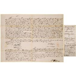 June 1, 1849 Indenture for Purchase of Land at Benicia: Frederick Billings and Charles D. Gillespie
