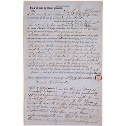 Yreka Quit Claim Deed for Property, 1856  (126756)