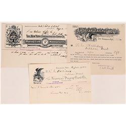Three US Playing Card Company Billheads  (109280)
