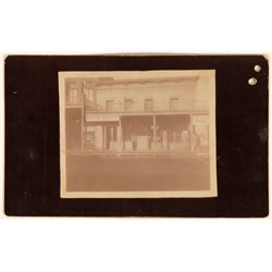 Mounted Photograph of the Boston Bakery in Carson City  (113515)