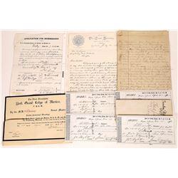 Dayton Free Masons Lodge #9 F.&A.M. Ephemera  (125507)