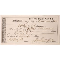 Dayton Warrant Signed by Carson City Mint Superintendent  (125503)
