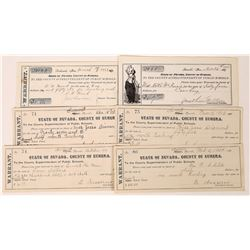 Early 1900's Eureka School Boards Warrants  (125506)