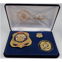 Metro Police 58th Inauguration Badge set.  (125342)