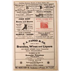 Apothecary Bottle and Advertisement Broadside - Pair Lot  (122323)
