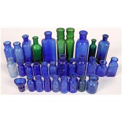 Cobalt Blue Bottle Collection  (126593)