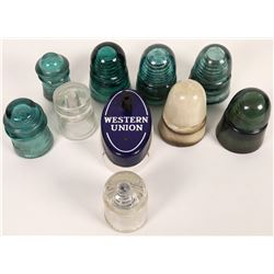 Glass Insulators and a Western Union Call-Box  (125587)